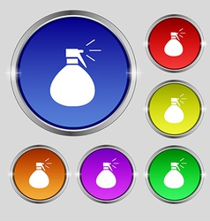 plastic spray of water icon sign Round symbol on vector image