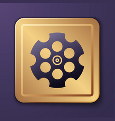 purple revolver cylinder icon isolated on vector image
