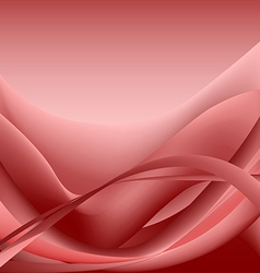 Red waves abstract background vector