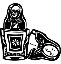 Russian Doll Death Inside vector image