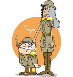 safari cartoon vector image