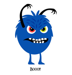 Scary monster cute print for t-shirt vector