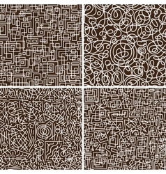 seamless abstract backgrounds set vector image
