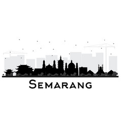 Semarang indonesia city skyline silhouette vector