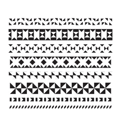 Set of borders and lines geometric elements vector image