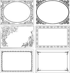 Set of vintage decorative borders vector