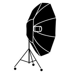 Studio flash with umbrella icon in simple style vector