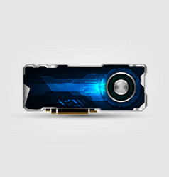 technology graphics card video card gpu graphics vector image