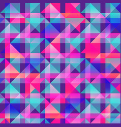 Vibrant triangle seamless pattern vector
