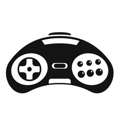 videogame controller icon simple style vector image