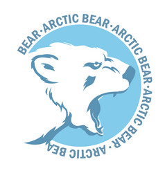 white bear vector image