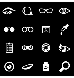 White optometry icon set vector
