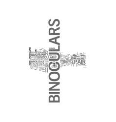 Wholesale binoculars text word cloud concept vector