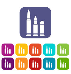 bullets icons set vector image vector image