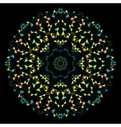 Circle Symmetric Design Round Flower Ornament vector image vector image