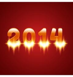 Glowing 2014 vector image