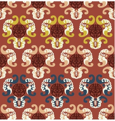 seamless chinese auspicious clouds pattern vector image vector image