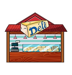 A cheese store vector image