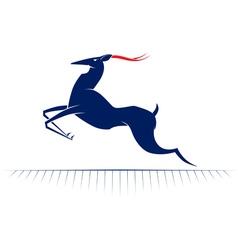 cartoon deer run vector image vector image