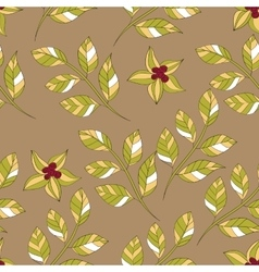 flower leaves pattern vector image