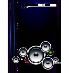 speakers futuristic vector image