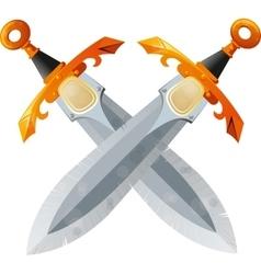 Two Crossed Swords vector image vector image