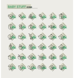 Baby Stuff icons vector image