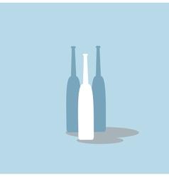 bottles of wine vector image