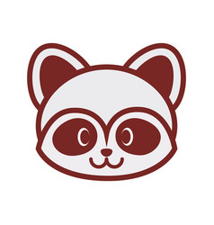 cute raccoon face image vector image vector image