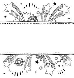 doodle pop label horizontal vector image