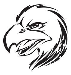 eagle head tattoo vintage engraving vector image vector image
