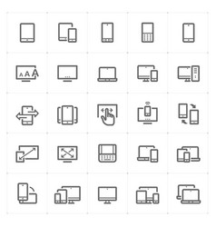 icon set - device and responsive vector image