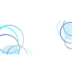 Abstract blue circles on white vector