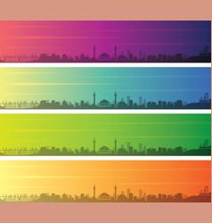 Amman multiple color gradient skyline banner vector