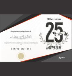 Anniversary-retro-vintage-background-25-years vector