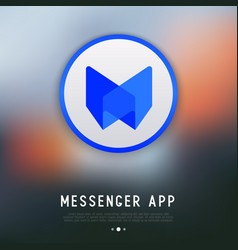 app logo for messenger or chat vector image