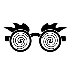 April fools day crazy glasses pictogra vector