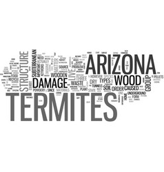Arizona termites text word cloud concept vector