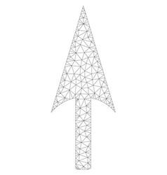 Arrow axis y polygonal frame mesh vector