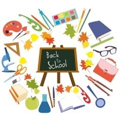 Back to School supplies set vector image