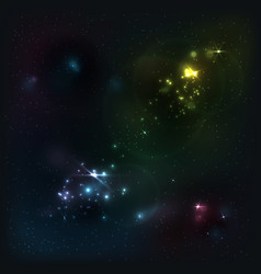 beautiful cosmic background vector image