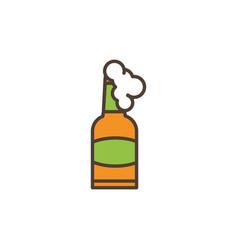 beer bottle foam oktoberfest icon line filled vector image