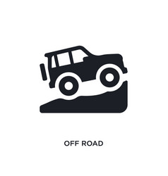 Black off road isolated icon simple element from vector