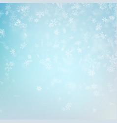 blue blurred winter banner with snow flakes eps vector image