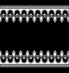 Border pattern indian elements with flowers and vector