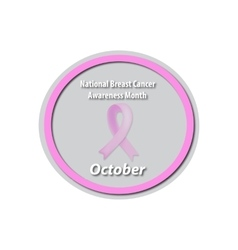 Breast Cancer Month - October Pink ribbon cancer vector