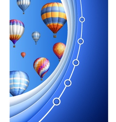 Business Background with Balloons vector