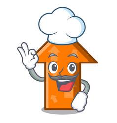 chef arrow character cartoon style vector image