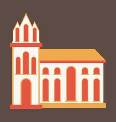 City travel landmark icon with flat design vector