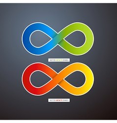 Colorful Abstract infinity symbols vector image